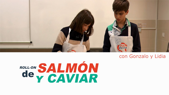 Roll-on de salmón y caviar